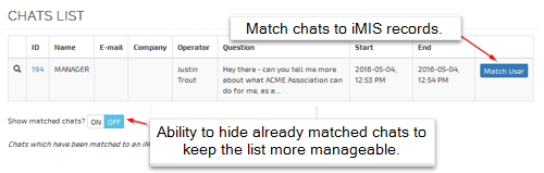 Chat List Screenshot